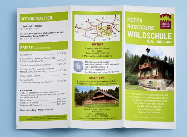 Folder für Roseggers Waldschule