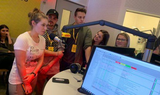 Mediendesign Kolleg bei der Antenne Steiermark in Graz